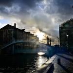 """""""Le pont levant de la rue de Crimée au coucher du soleil"""""""