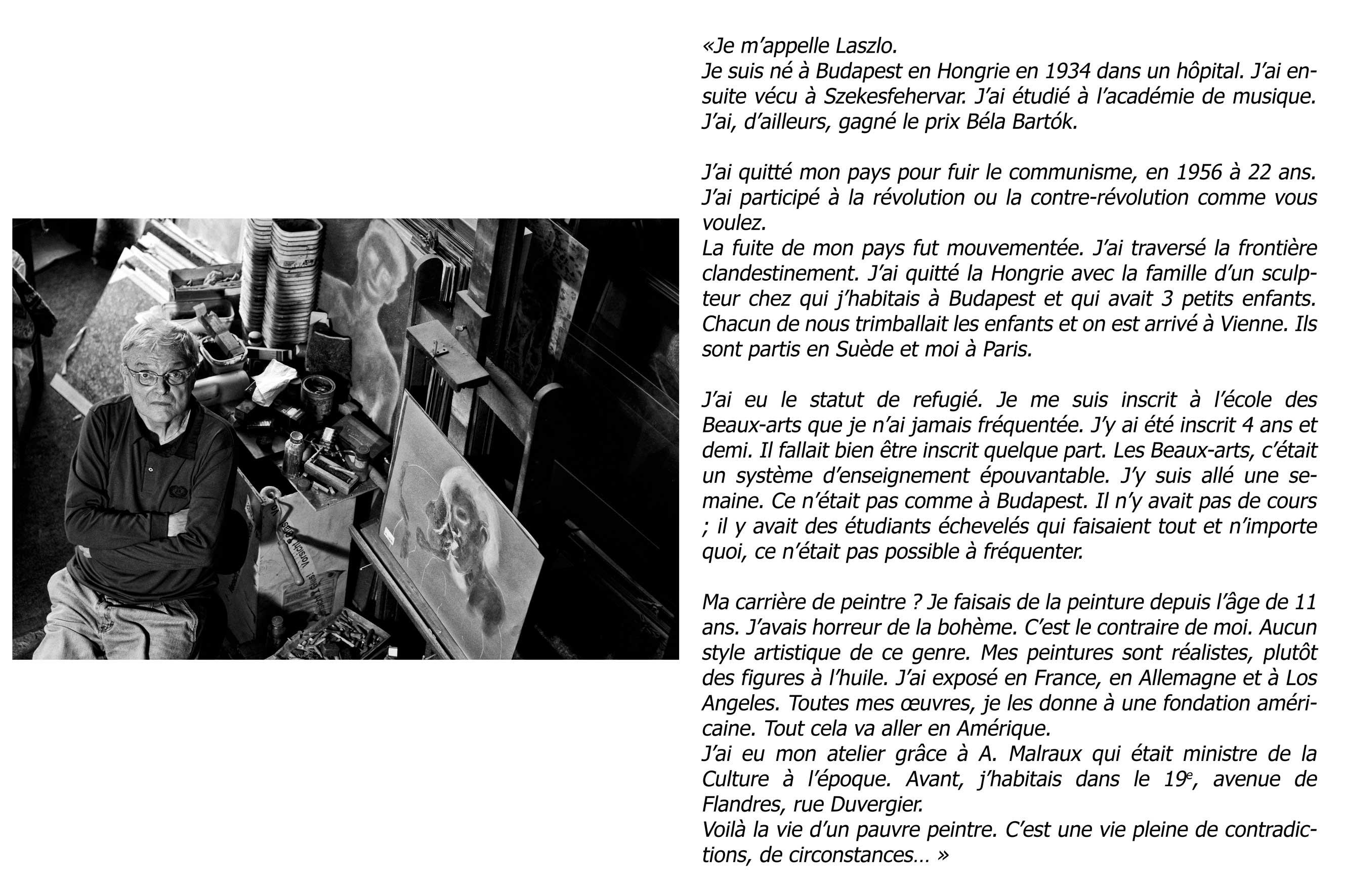 """Laszlo - """"Ces voisins oubliés"""" - copyright Clément Szmulewicz"""