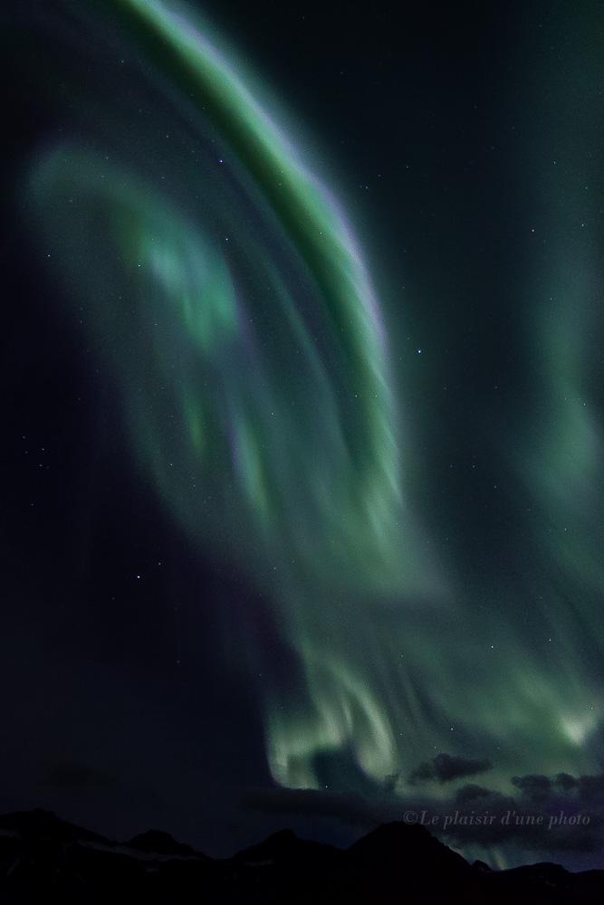 Aurore boréale à Faskrudsfjordur