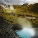 Les sources d'eau chaudes dégagent de l'eau chargée en souffre
